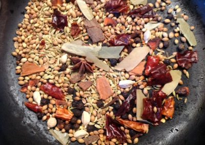 Roasting our spice mix
