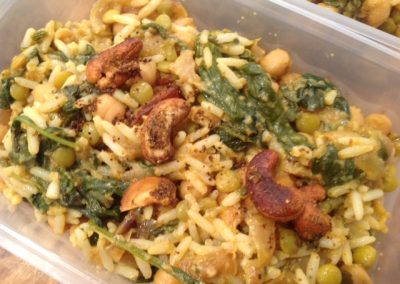 Spinach & Cashew Breyani